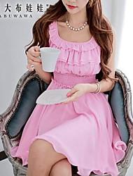 Women's Pink/Purple Dress , Casual Sleeveless