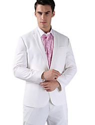 White Fleece Slim Fit Two-Piece Suit