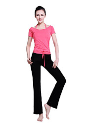 Women's Yoga Suits Short Sleeve Red / Pink / Blue Yoga S / M / L / XL / XXL