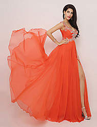 A-line V-neck Knee-length Evening Dress