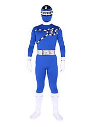 Zentai Suits Ninja Zentai Cosplay Costumes Green Print Leotard/Onesie / Zentai Lycra Unisex Halloween / Christmas