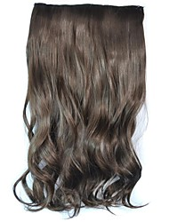 Clip Wave Hairpieces Synthetic Extensions (Brown)