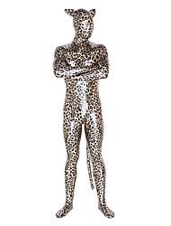 leopardo unisex brillante metalizado traje Zentai animales cosplay