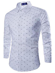 moda casual gola camisa dos homens