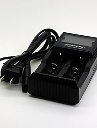 "D2 5.5""LCD US Plug 2-Slot Li-ion / Ni-MH / NiCd Battery Charger for 18650 / AA / AAA + More (DC 12V, AC 100-240V)"
