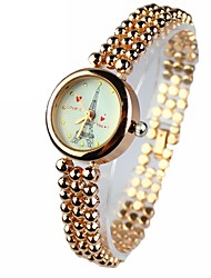 Mulheres Relógio de Moda Quartz Lega Banda Torre Eiffel Dourada marca-