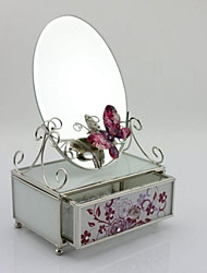 Wedding Gifts Flower Desk Glass Jewelry Box
