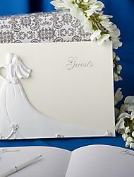 élégante signe de livre d'or de mariage dans le livre