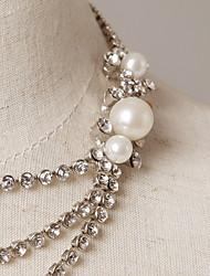 Silver Rhinestone Accessories Wedding Fashion Jewelry Sets Suit