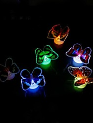 Colourful Flashing Butterfly 5pcs/pack (Random Colour)