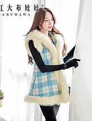 Pink Doll® Women's Fashion Fur Collar Woolen Coat