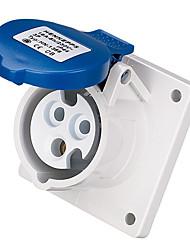 HENNEPPS HN1261 Waterproof Industrial Connector Female Industrial Socket CE 230V 50A 2P+E IP44 6H 10-16mm²