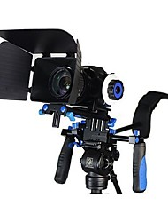 DSLR Rig Movie Kit Shoulder Mount Rig with Follow Focus and Matte Box for All DSLR Cameras and Video Camcorders
