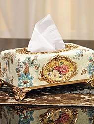 résine boîte de marchandises de papier sculpture de fleurs de style occidental restauration anciennes voies papier serviette de table carton