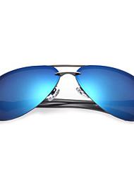 Polarized Men's Aviator Aluminum Lightweight Sunglasses