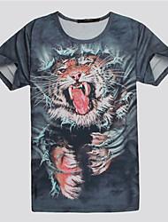 Moto Men's 3D Pattern Print T-Shirt