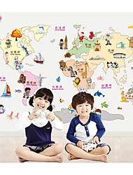 stickers muraux stickers muraux de style, la carte du monde pvc stickers muraux