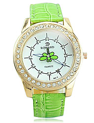 Women's Casual Second Hand Dragonfly Rotating Surface Guartz Wrist Watch(Assorted Colors)