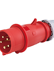 HENNEPPS HN3 Waterproof Industrial Connector Male Industrial Plug CE 400V 50A 3P+N+E IP44 6H 1.5-2.5mm²