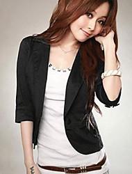 Women's White/Black Blazer , Bodycon Long Sleeve