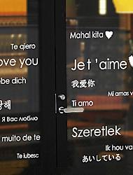 """70 * 180cm (28 """"* w 71"""" l) autocollant valentine garde-robe de fenêtre de texte"""