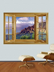 3D Wall Stickers Wall Decals, Seaside View Decor Vinyl Wall Stickers