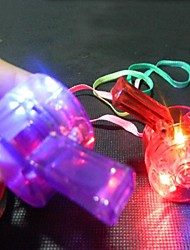 1 Piece Multicolors Plastic Led Flashing Whistle Light Up Whistle for Party/Show/Concerts