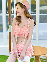 Vicki Women's Sweet Cute Girl Style Push-up Swim Dress Bikini Swimming Suit