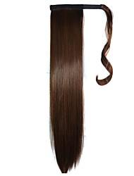 bandes cravate extensions synthétiques postiches droites (brun clair)