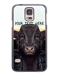 personalisierte Telefon-Tasche - Kuh Design-Metall-Gehäuse für Samsung Galaxy i9600 s5