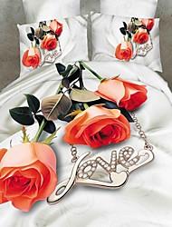Duvet Cover Set, 4pcs Bedding Set Comforter Duvet Covers Bed Sheet Bedclothes