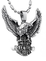 Men's Pendant Necklaces Titanium Steel Punk Silver Jewelry Daily Casual