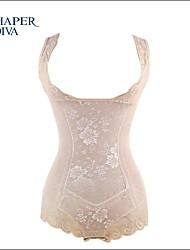 Shaperdiva Women's Girdle Lace Mesh Floral Pattern Body Shaper Shapewear
