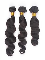 3Pcs/lot 30inch Brazilian Virgin Hair Natural Colour Loose Wave Hair Weaving Human Hair Bundles