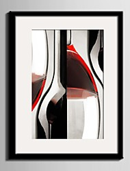 E-HOME® Framed Canvas Art, Wine Cup Framed Canvas Print