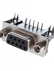 DB9 / DR9 женские ноги согнуты DR-9p Serial Com порт RS232 разъем изогнутые иглы сиденья