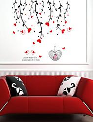 decalques de parede adesivos de parede, pássaros do amor do estilo de parede pvc etiquetas