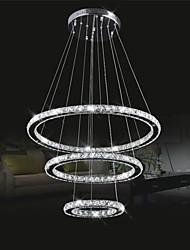LED Crystal Pendant Lights Lighting Transparent Crystal Round 3 Rings 40CM Plus 60CM Plus 80CM Lamps Fixtures
