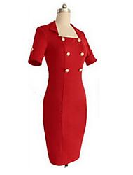 O  M  G   Women's European V Neck Casual Dress