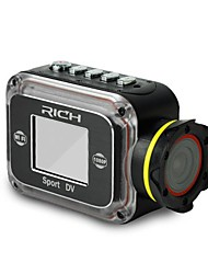 "RICH SPORT CAMERA 140°WIDE ANGLE LENS COMS HD SENSOR 1.5""LCD SCREEN SUPPORT 15 METERS WATERPROOF WIFI FUNCTION"