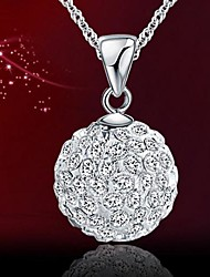 Collier (Argent , Pourpre/Rose/Rouge/Blanc) Strass