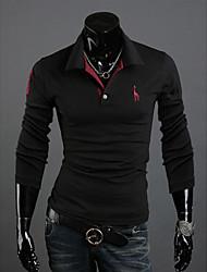 big B Men's Casual V-Neck Long Sleeve T-Shirts