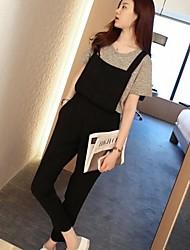 женские летние простой характер брюки чулок