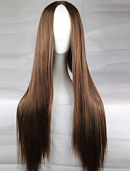 Synthetic Wig The New Animation Carved Brown Long Straight Hair Costume Wigs 80CM