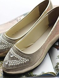 Women's Shoes Flat Heel Pointed Toe Flats Casual Silver/Gold