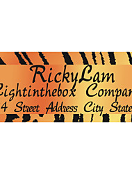 Personalized Product Labels / Address Labels Orange Tiger Stripes Wild Style Pattern White Film Paper