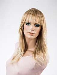 Women Long Blonde Straight Synthetic Wig