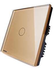 goldenen Kristallglasplatte Wandleuchte Touch-Screen-Dimmer