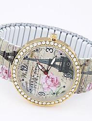 Женские Модные часы Часы-браслет Повседневные часы Кварцевый сплав Группа Эйфелева башня Разноцветный