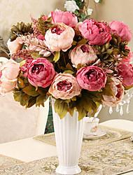 1 Филиал Шелк Пионы Букеты на стол Искусственные Цветы 50 x 30 x 30(19.69'' x 11.81'' x 11.81'')